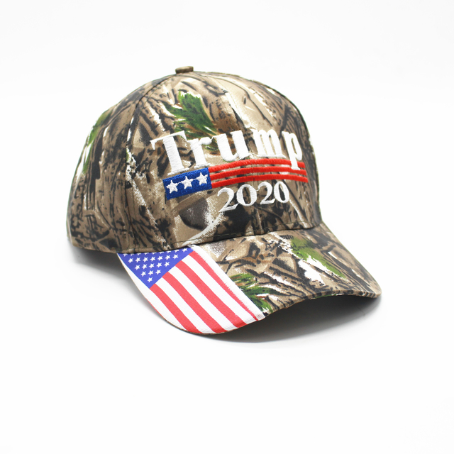[SMOLDER]Make America Great Again Embroidery USA Flag 2020 Donald Trump Hat Re-Election Cotton Baseball cap Outdoor Camouflage