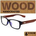 2016 Caliente Venta de Johnny Depp Estrella Estilo Placa Miopía Enmarcan los Vidrios Ópticos Hombres de madera Gafas