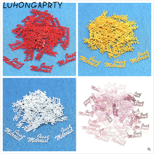 Hot Sale 500pcs Table Party Scatters Confetti Gold Silver Just Married Wedding Confetti Decoration