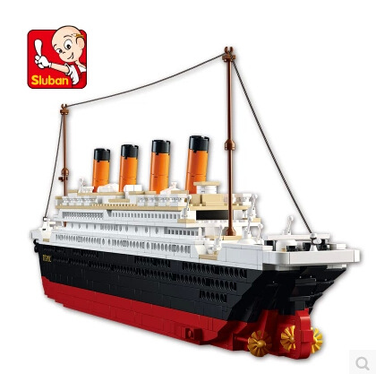 1021PCS Sluban B0577 Building Blocks Toy Cruise Ship RMS Titanic Ship Boat 3D Model Educational Gift Toy legeod brinquedos