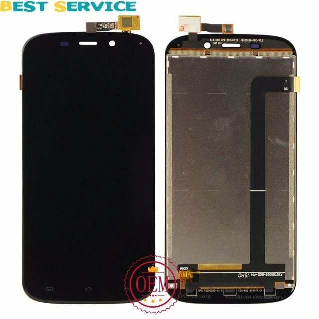 For DOOGEE Y100x LCD Screen Display with Touch Screen Panel Digitizer Assembly Black White Colors Free Shipping