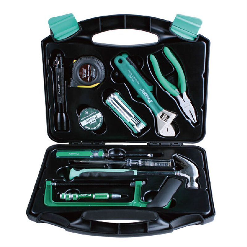 PK-2028 28PCS Hand tools set household tools kit pliers tape hanmmer screwdriver Multifunction tool box set