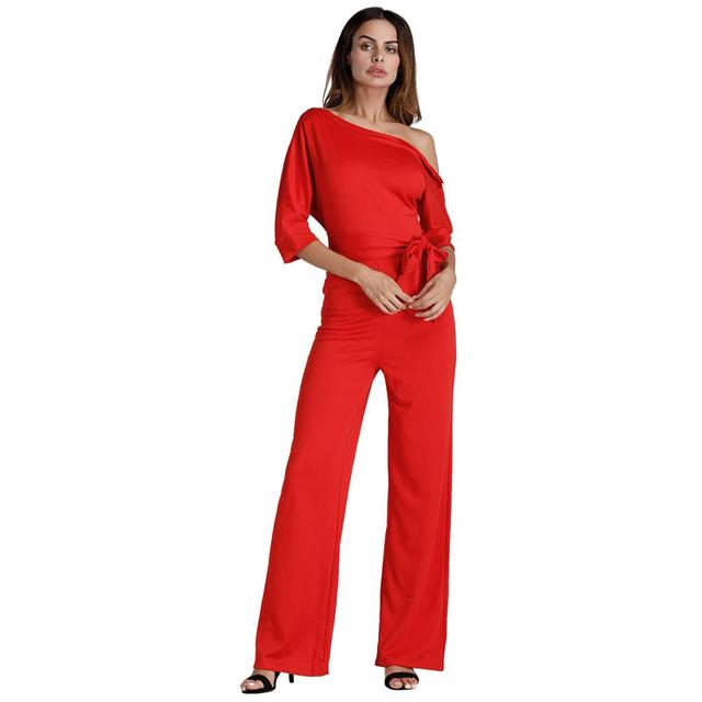 59a6ad0bf7a NIBESSER Jumpsuits Romper Women Overall Sexy One Shoulder bodycon tunic  Jumpsuit for party elegant Wide Leg Pant body femme 2018