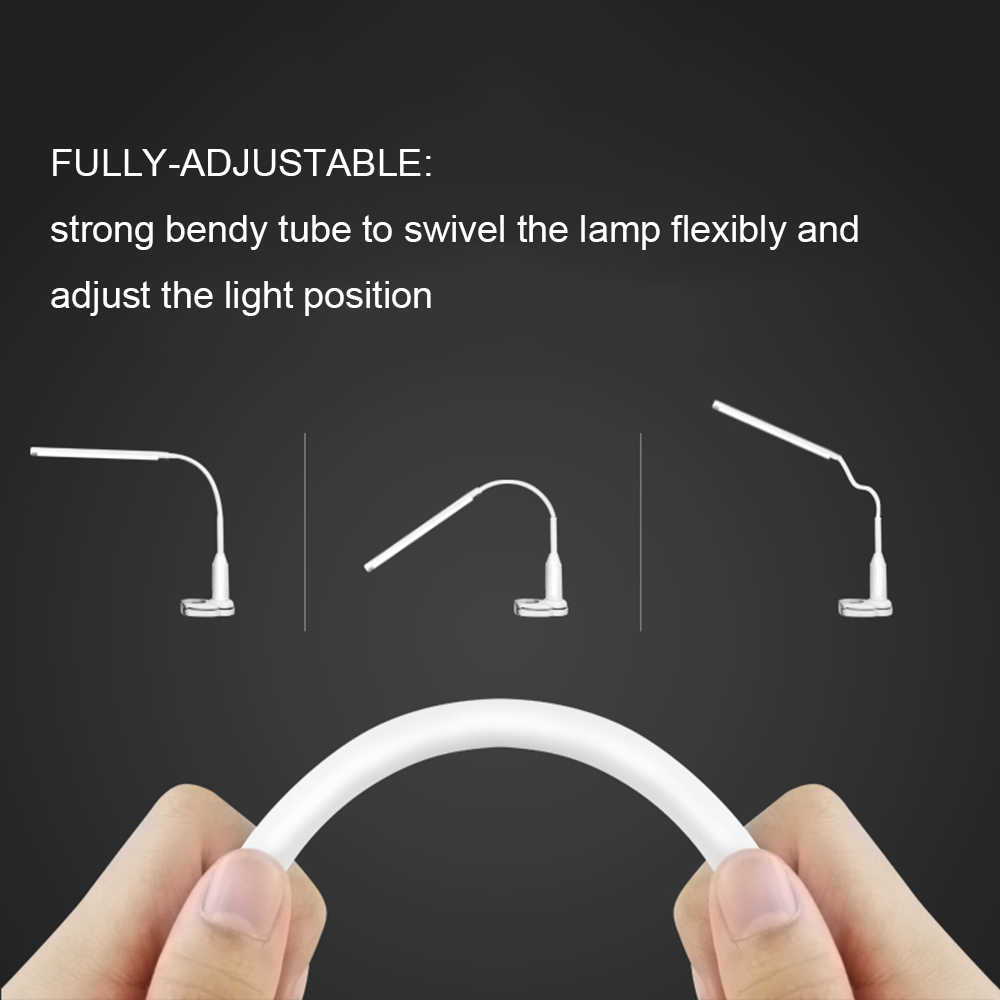 5 Вт 24 светодиодный s глаз защитный зажим клип свет настольная лампа Плавная регулировкая яркости гибкие USB питание сенсорное управление светодиодный настольная лампа