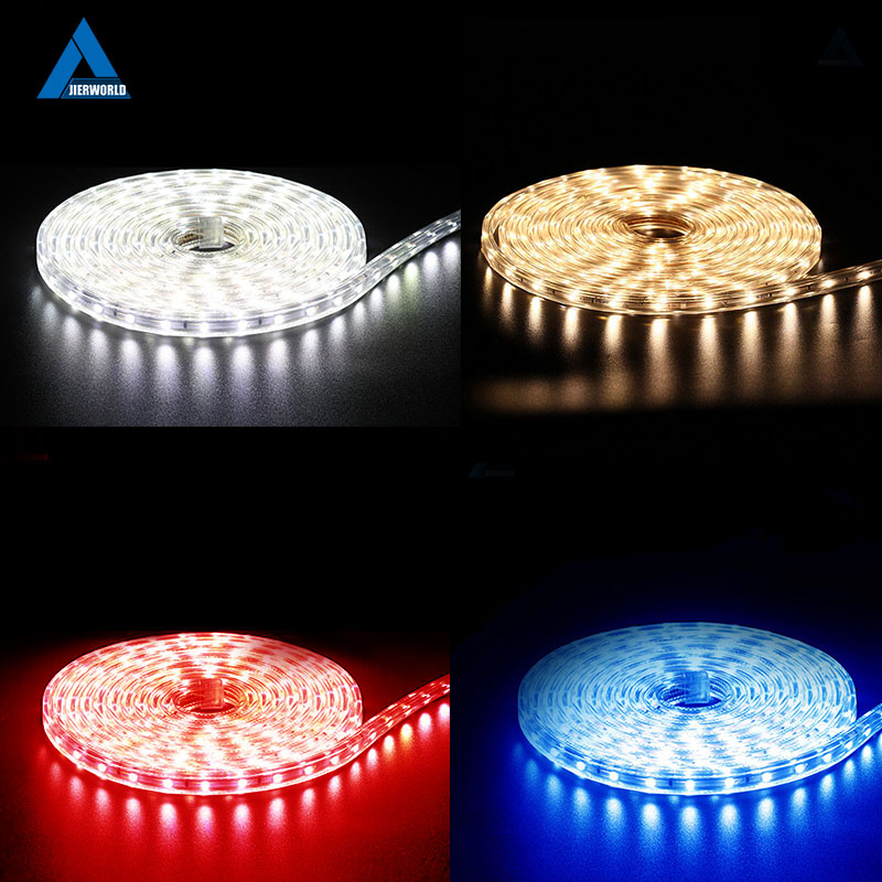 220V Tape Strip Waterproof Keamanan Tinggi Kecerahan Tinggi SMD 5050 Led Tape Jalur Light White LED Strip Lampu Led Dekoratif