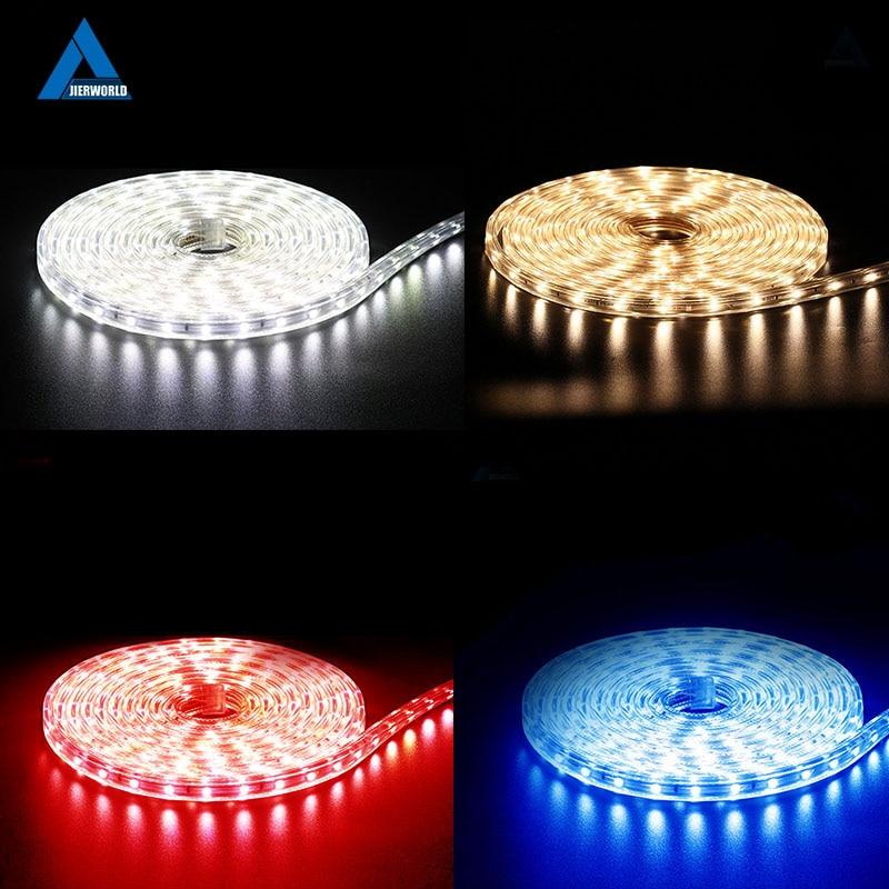 SMD 5050 AC 220V LED Strip Outdoor Waterproof 220V 5050 220 V LED Strip 220V SMD 5050 LED Strip Light 1M 2M 5M 10M 20M 25M 220V