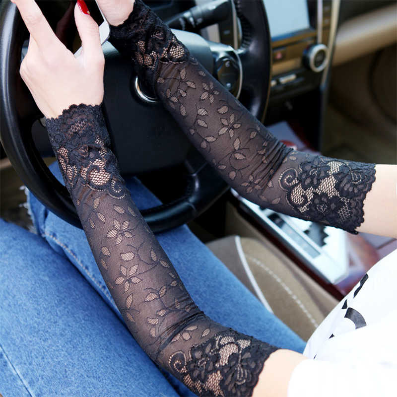 Vrouwen Kant Arm Mouw Ademend Bracers Uv Lace Patroon Vrouw Arm Mouwen Kleding Accessoires Zomer Anti-zon Arm mouw