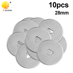 10pcs 28mm Rotary Cutter Blades Refill Replacement Spare Blades Paper Cut Circular Blade Patchwork Fabric Leather Craft Quilting
