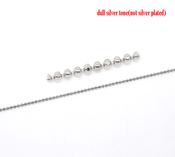DoreenBeads Silver Tone Smooth Ball Chains Findings 1.5mm Dia. 1M,1 pcDoreenBeads Silver Tone Smooth Ball Chains Findings 1.5mm Dia. 1M,1 pc