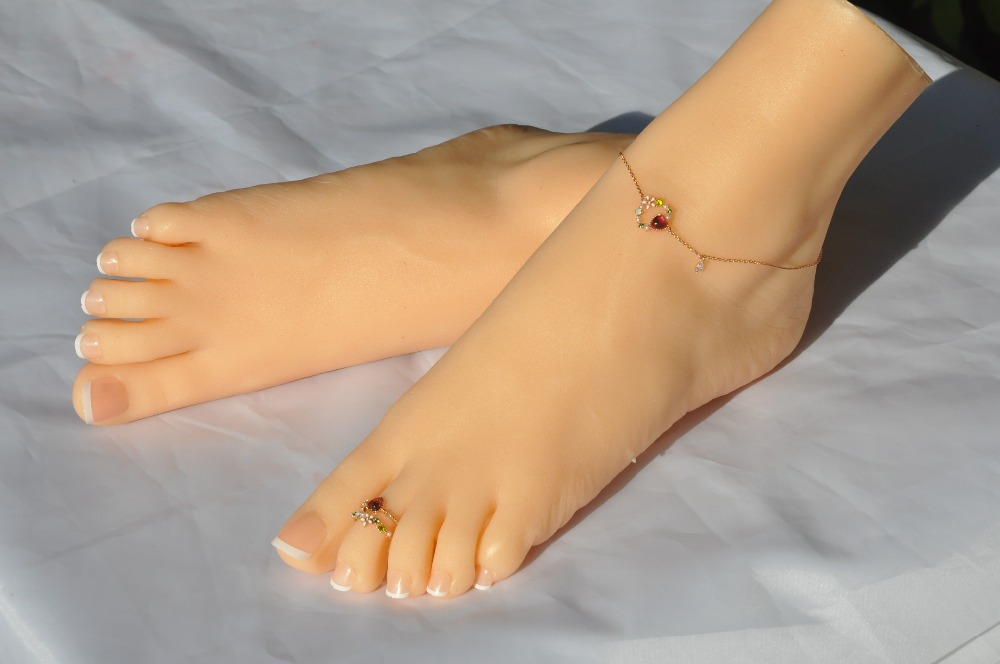Real people imitate real Foot mould photography to show props medical painting teaching stockings lX36 in Sex Dolls from Beauty Health