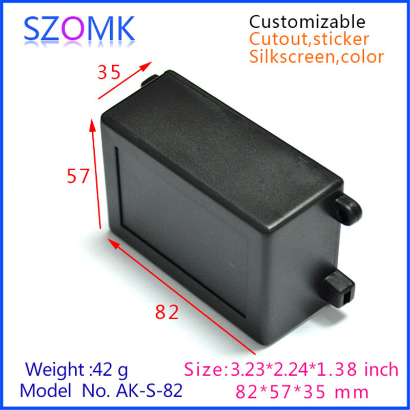 20 piece a lot electrical abs plastic enclosure wall mounted junction box in black color 82x57x35mm