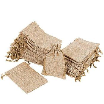 цены 50pcs Vintage Jute Burlap Gift  Bags 10x14cm Jute Jewelry Packaging Bag Wedding Favor Pouch Necklace Earrings Jewelry Holder