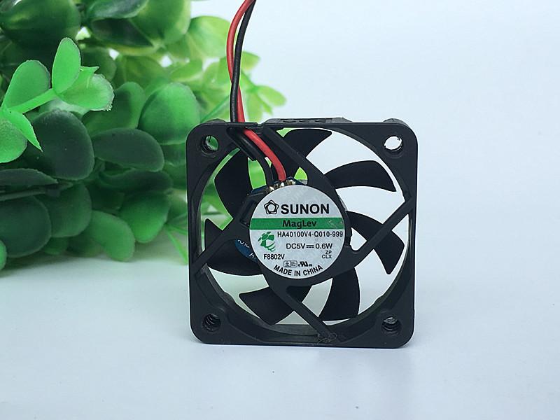 Original SUNON HA40100V4-Q-010-999 DC5V 0.6W 4cm 4010 40 * 40 * 10MM Magnetic Suspension Silent Wind