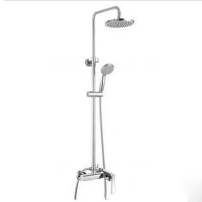 Single To Dual Control Bathroom Rain Double Shower Faucet Grand Head Set Rotating H01030029