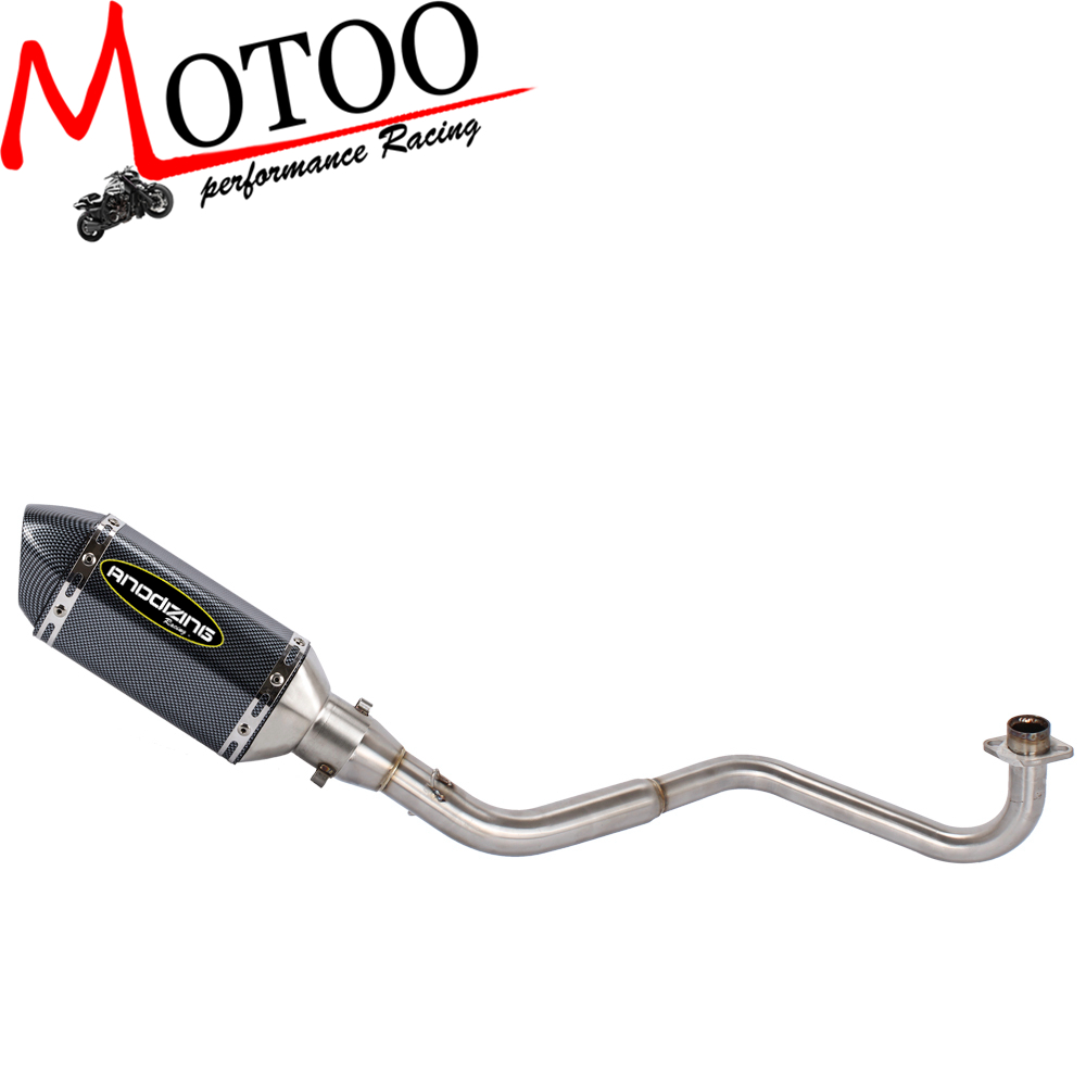 Motoo Full Exhaust System Motorcycle Muffler Front Link Pipe Slip On For HONDA GROM MSX125 2013