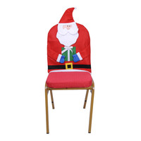 Mr And Mrs Santa Claus Seat Cover Kindly Old Man Christmas Party Decoration Use In