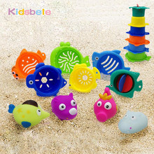 Children Outdoor Beach Toys Seaside Rubber Spraying Animals Bath Toys Beach Sand Pool Toys For Kids Summer Water Playing(China)