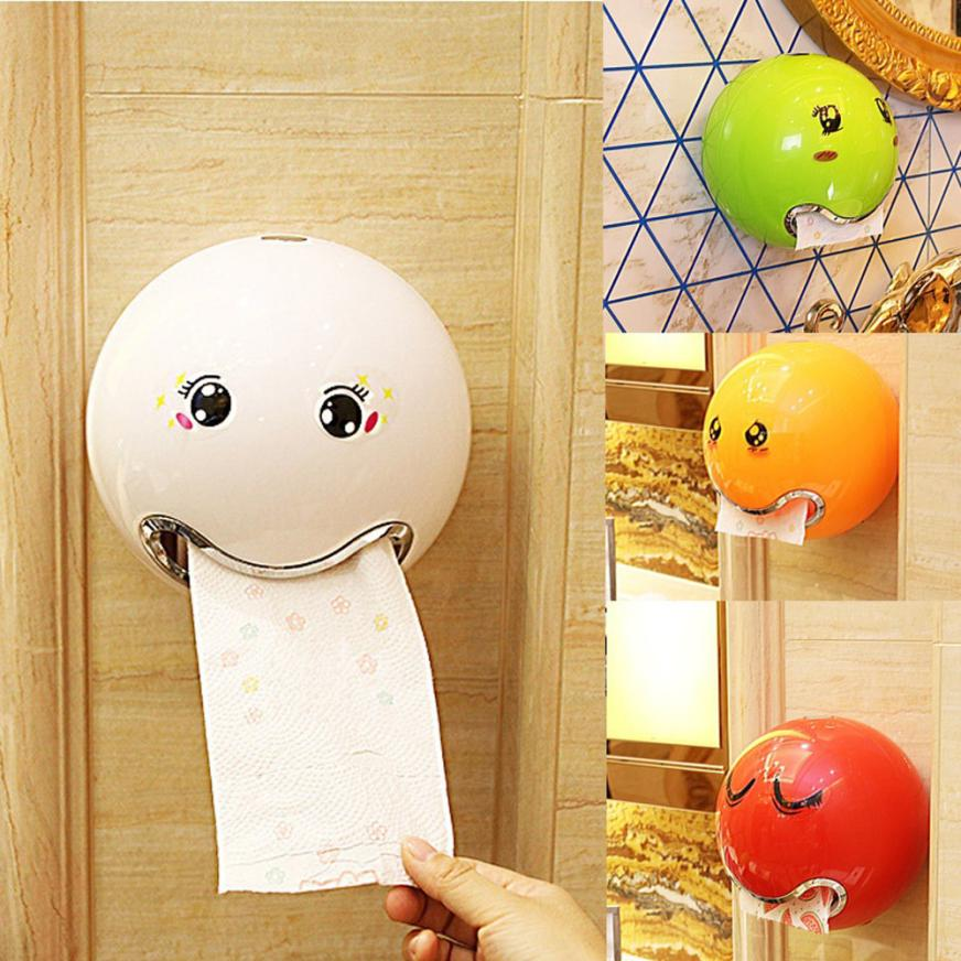 toilet paper holder box Ball Shaped Cute Emoji Bathroom Toilet Waterprooftoilet paper box roll paper Roll Paper Hol storage