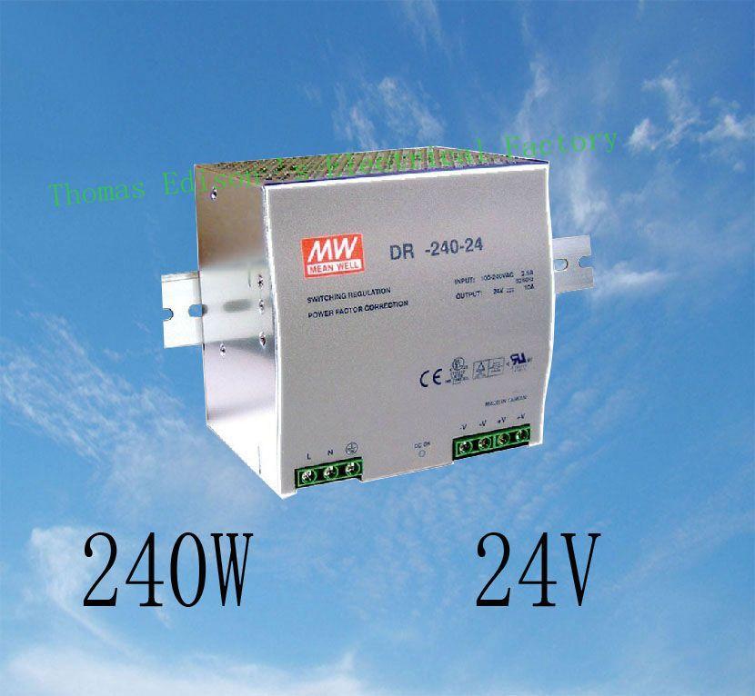 все цены на DIANQI Din rail power supply 240w 24V power suply 24v 240w  ac dc converter dr-240-24 good quality онлайн