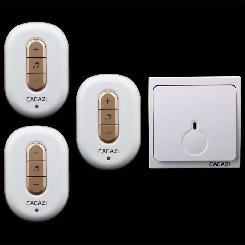 Free shipping! 1 transmitter + 3 Receiver New Wireless Doorbell With Remote Control Musical 48Tunes Digtal doorchime D9918 -1+3Free shipping! 1 transmitter + 3 Receiver New Wireless Doorbell With Remote Control Musical 48Tunes Digtal doorchime D9918 -1+3