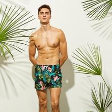 Newest Men's Black Beach Shorts Leaves Flower Printed Surfing Shorts Quick Dry Beach Pants Swim Shorts Men Swimming Shorts все цены