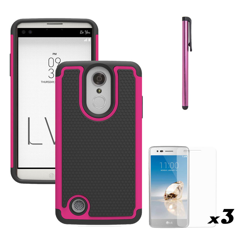 Cell Phone Accessories Cases, Covers & Skins Hybrid Shockproof Holster Clip Kickstand Case Cover For Lg Aristo Lv3 V3 Ms210 Clear-Cut Texture