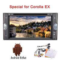 Android4.4 car DVD/CD player for Toyota COROLL EX HD touch screen support mirror link built-in wifi 3D map am/fm radio bluetooth
