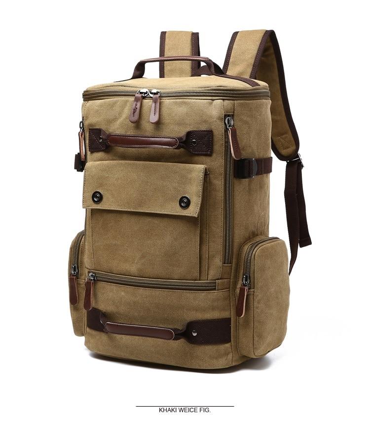 Men Laptop Backpack 15 Inch Rucksack Canvas School Bag Travel Backpacks for Teenage Male Notebook Bagpack Computer Knapsack Bags 6