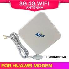 3g 4g lte antena sma crc9 ts9 conector wifi sinal impulsionador antena 35dbi interior 4g receptor internet para roteador modem sem fio