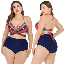 Set bikini plus size 2019 women sexy beach bikini push up swimwear woman brazilian bikini big size swimsuit for woman bath suit tropical flower plus size bikini set