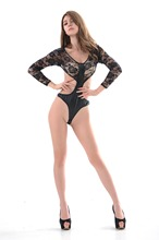 Sexy underwear Black long sleeve uniform Painted leather party steel pipe dance costume exotic clothing doll sexy underwear(A10)