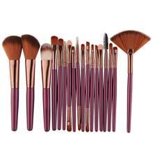 18 pçs pincéis de maquiagem ferramenta cosméticos pó sombra de olho fundação blush mistura beleza compõem escova maquiagem maange