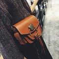 2017 Fashion Women Messenger Bags Tassel Shoulder Bags Crossbody Bags Female Designer Leather Handbags Black Bolsas Feminina 829