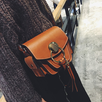 2019 Fashion Women Messenger Bags Tassel Shoulder Bags Crossbody Bags Female Designer Leather Handbags Black Bolsas Feminina 829