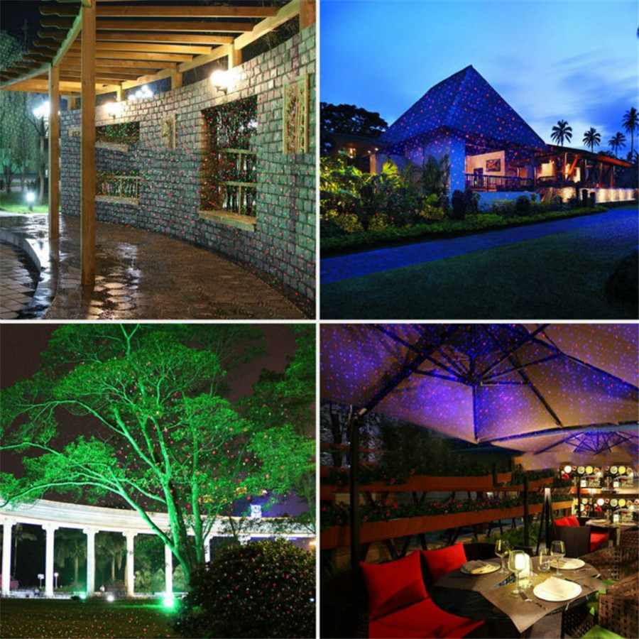 Christmas Laser Spotlight Premium Outdoor Garden Park House Decoration star rain LED Laser ...