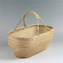 Natürliche bambus wäschekorb picknick cesta obstkörbe küche storage Gemüse cestas geschenk cesto de roupa organizer