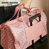 EMINI HOUSE PVC High Capacity Travel Bag Waterproof Boston Bag Luxury Handbags Women Bags Designer Women Shoulder Bags