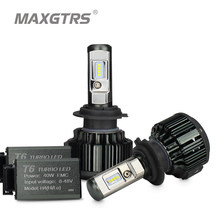 MAXGTRS H1 H3 H4 H7 H8 H11 9005 9006 9012 HB3 HB4 H13 9004 9007 880 881 Car LED Headlight Bulbs 70W CSP LED Headlamp Front Light(China)