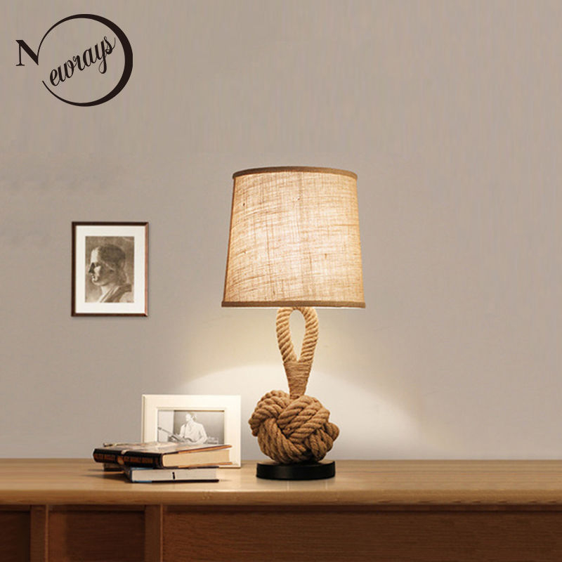 Nordic country fabric iron table lamp modern novelty desk lamp LED E27 for bedroom for living room bedroom lobby study cafe shop