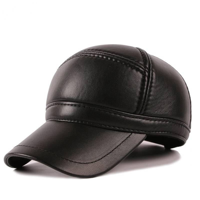58e3538f4ddae  1104 2018 invierno Faux cuero moda grueso béisbol orejeras casquillo caliente  hombres sombrero de cuero para los hombres hueso masculino