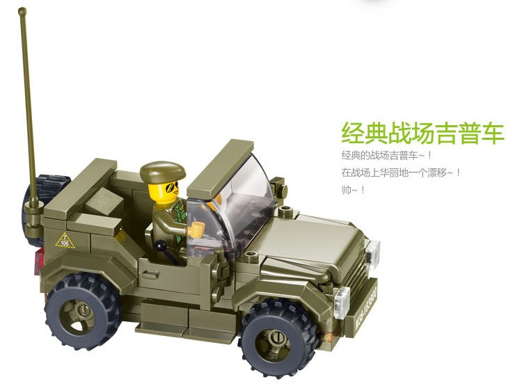 Sluban-576pcs-Army-troops-Educational-Toys-Tank-Jeep-Radar-6-Soldiers-vehicle-Bricks-Building-Block-Toys (2)