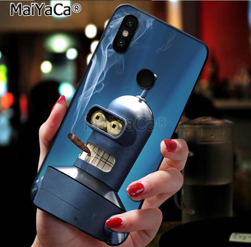 MaiYaCa Футурама Бендер красочные аксессуары для мобильного телефона чехол для xiaomi mi 8 se 6 note2 note3 redmi 5 plus note4 5 Крышка