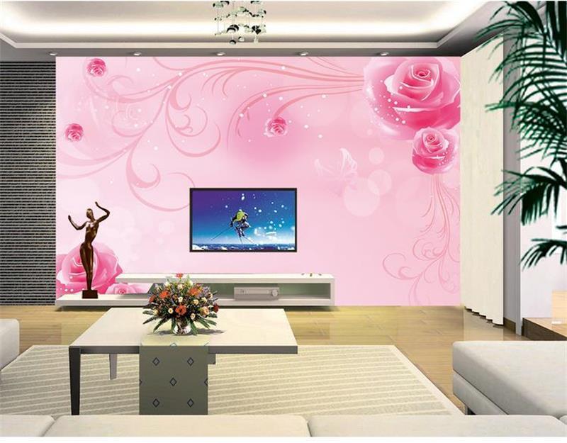 rosa rosen tapete-kaufen billigrosa rosen tapete partien aus china ... - Schlafzimmer Wand Rosa