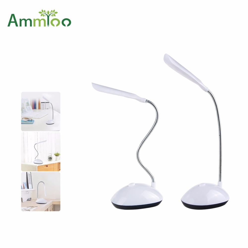 Us 2 99 30 Off Ammtoo Eye Care Desk Lamp Flexible Bedside Reading Book Led Light Indoor Lighting Lamps White With Battery Operated In