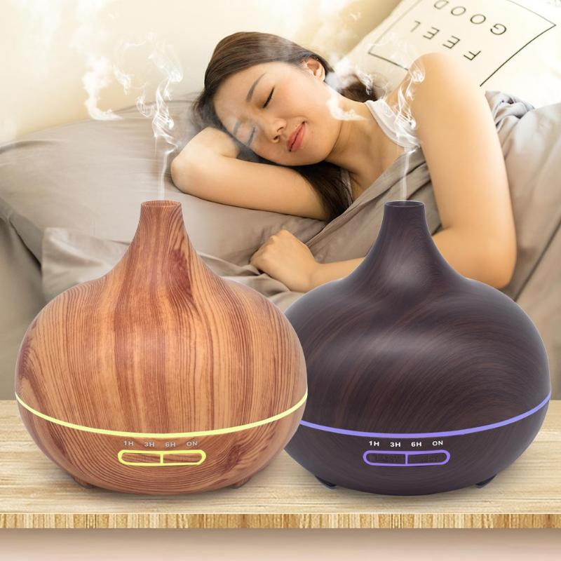 12W Ultrasonic Colorful LED Lamp night light Timer Air Humidifier Aromatherapy Essential Oil Mist Aroma Diffuser for Home Office hot sale humidifier aromatherapy essential oil 100 240v 100ml water capacity 20 30 square meters ultrasonic 12w 13 13 9 5cm