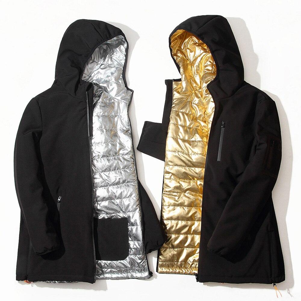 Casual Winter Jacket Men Windproof Coat Black Warm Long Hooded Coat Padded Casual Men Parka  jackets men M-3XL men s chemical fiber blended fabric warm zippered jacket coat black xl