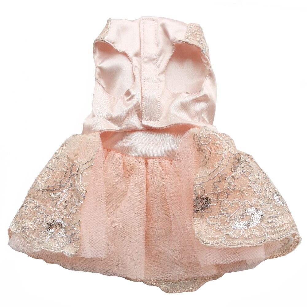 Prabangus princesė šunų vestuvių suknelė nėrinių naminių - Naminių gyvūnėlių produktai - Nuotrauka 5