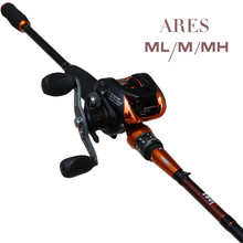 Ares Sea Fishing Three pole tip 2.1M road subpole + AF103 water droplets wheel ML / M / MH Tune Carbon Road Asian pole Set—D2