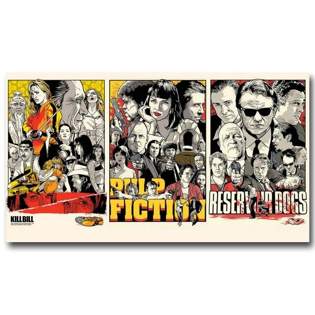 Kill Bill Reservoir Dogs Pulp fiction Movie Art Tela De Seda ...