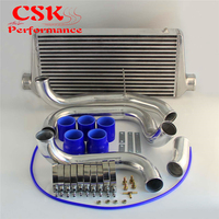 Upgrade Intercooler w/ Aluminum Piping Pipe Kit Fits For Nissan Skyline R32 R33 R34 GTST RB20 RB25DET 93 98 Blue / Black /Red